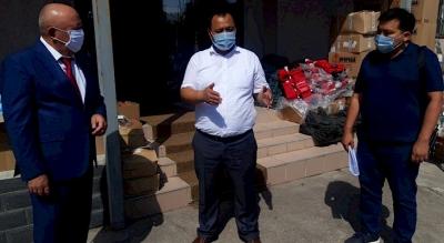 Кыргызстандын токой чарба кызматкерлери жеке коргонуучу каражаттар менен камсыз болушту
