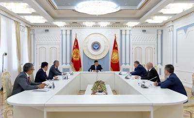 Жээнбеков Россия Федерациясынын Өкмөтүнүн төрагасынын орун басарын кабыл алды