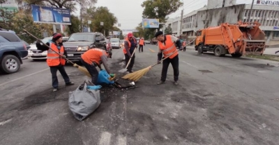 6-октябрь:Бишкек шаарында 20 тоннага жакын таштанды чогултулду
