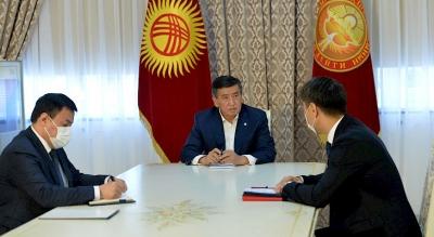 Жээнбеков тышкы иштер министри Чыңгыз Айдарбековду кабыл алды