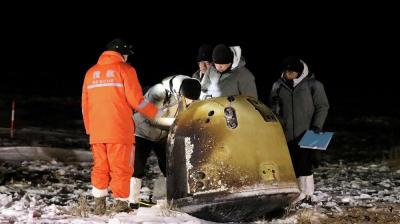 Кытайдын космостук аппараты Айдан Жерге ийгиликтүү учуп келди