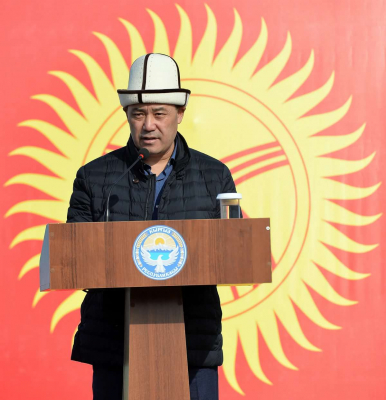 Садыр Жапаров Аксы окуяларына карата кыргызстандыктарга кайрылуу жолдоду