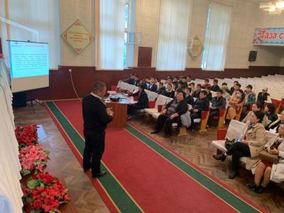 Кыргызпатенттин кызматкерлери аймактарда жолугушууларды өткөрүүдө