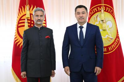 Президент Садыр Жапаров Индиянын тышкы иштер министри Субраманиям Жайшанкарды кабыл алды